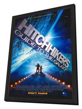 The Hitchhiker's Guide to the Galaxy - 27 x 40 Movie Poster - Style A - in Deluxe Wood Frame
