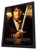 The Hobbit: An Unexpected Journey - 27 x 40 Movie Poster - Style B - in Deluxe Wood Frame