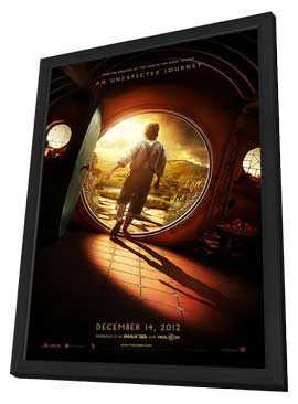 The Hobbit: An Unexpected Journey - 27 x 40 Movie Poster - Style A - in Deluxe Wood Frame