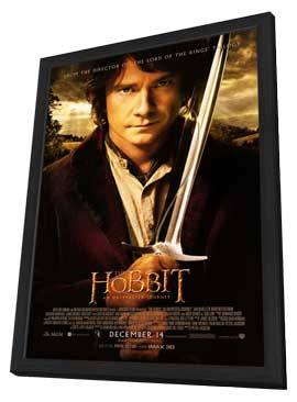 The Hobbit: An Unexpected Journey - 11 x 17 Movie Poster - Style C - in Deluxe Wood Frame