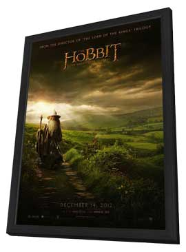 The Hobbit: An Unexpected Journey - 27 x 40 Movie Poster - Style C - in Deluxe Wood Frame