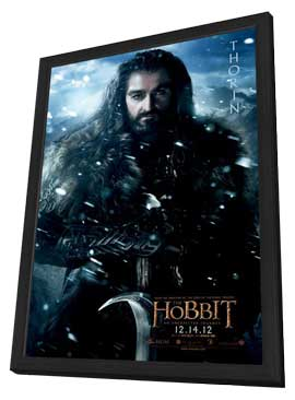 The Hobbit: An Unexpected Journey - 11 x 17 Movie Poster - Style H - in Deluxe Wood Frame
