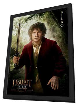 The Hobbit: An Unexpected Journey - 11 x 17 Movie Poster - Style K - in Deluxe Wood Frame