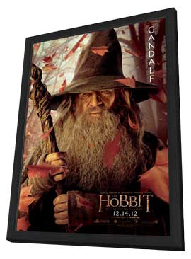 The Hobbit: An Unexpected Journey - 11 x 17 Movie Poster - Style R - in Deluxe Wood Frame