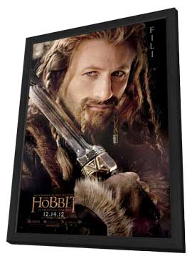 The Hobbit: An Unexpected Journey - 11 x 17 Movie Poster - Style W - in Deluxe Wood Frame