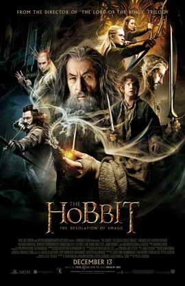 The Hobbit: The Desolation of Smaug - 11 x 17 Movie Poster - Style B