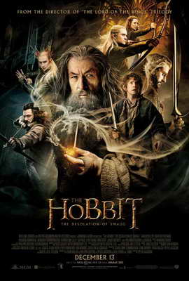 The Hobbit: The Desolation of Smaug - 27 x 40 Movie Poster - Style B
