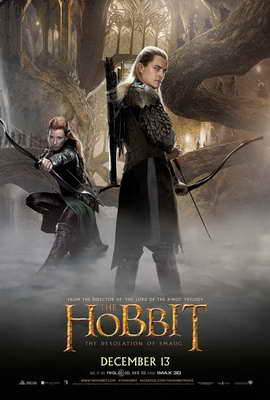 The Hobbit: The Desolation of Smaug - 27 x 40 Movie Poster - Style E