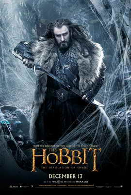 The Hobbit: The Desolation of Smaug - 27 x 40 Movie Poster - Style F