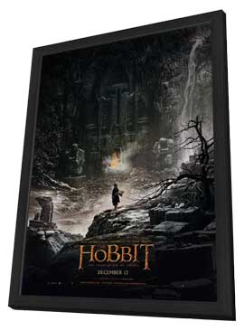 The Hobbit: The Desolation of Smaug - 27 x 40 Movie Poster - Style A - in Deluxe Wood Frame