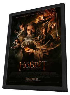 The Hobbit: The Desolation of Smaug - 27 x 40 Movie Poster - Style B - in Deluxe Wood Frame