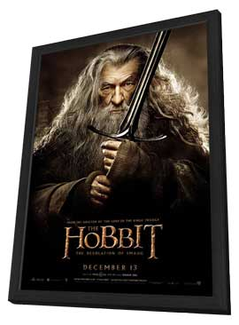 The Hobbit: The Desolation of Smaug - 11 x 17 Movie Poster - Style L - in Deluxe Wood Frame
