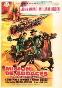 The Horse Soldiers - 11 x 17 Movie Poster - Spanish Style C