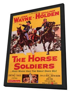 The Horse Soldiers - 11 x 17 Movie Poster - Style A - in Deluxe Wood Frame