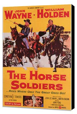 The Horse Soldiers - 11 x 17 Movie Poster - Style A - Museum Wrapped Canvas