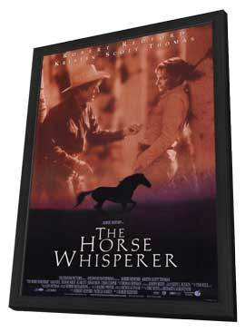 The Horse Whisperer - 27 x 40 Movie Poster - Style B - in Deluxe Wood Frame