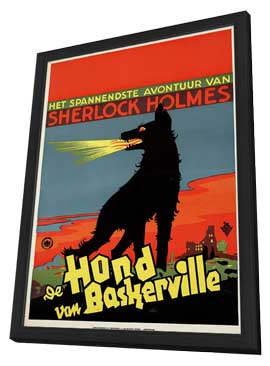 The Hound of The Baskervilles - 11 x 17 Movie Poster - Netherlands Style A - in Deluxe Wood Frame
