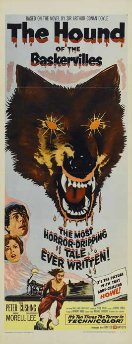 The Hound of the Baskervilles - 14 x 36 Movie Poster - Insert Style A