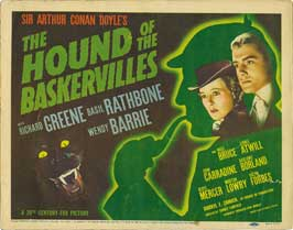 The Hound of the Baskervilles - 22 x 28 Movie Poster - Half Sheet Style C
