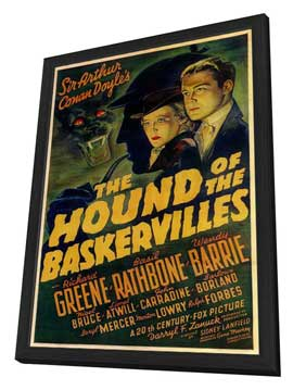 The Hound of the Baskervilles - 11 x 17 Movie Poster - Style A - in Deluxe Wood Frame