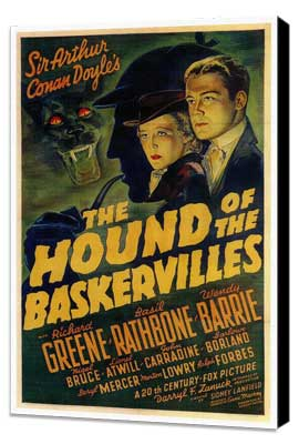 The Hound of the Baskervilles - 27 x 40 Movie Poster - Style A - Museum Wrapped Canvas