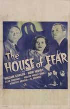 The House of Fear - 11 x 17 Movie Poster - Style B