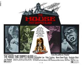 The House that Dripped Blood - 30 x 40 Movie Poster UK - Style A