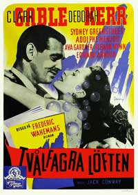 The Hucksters - 11 x 17 Movie Poster - Swedish Style A
