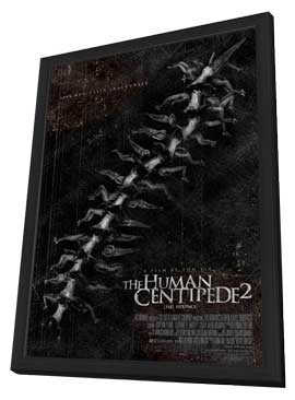 The Human Centipede II (Full Sequence) - 27 x 40 Movie Poster - Style A - in Deluxe Wood Frame