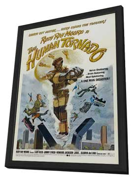 The Human Tornado - 27 x 40 Movie Poster - Style B - in Deluxe Wood Frame