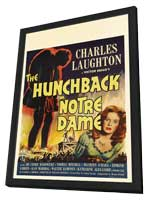 The Hunchback of Notre Dame - 27 x 40 Movie Poster - Style B - in Deluxe Wood Frame