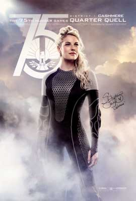 The Hunger Games: Catching Fire - DS 1 Sheet Movie Poster - Autographed by Stephanie Leigh Schlund