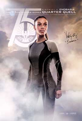 The Hunger Games: Catching Fire - DS 1 Sheet Movie Poster - Autographed by Meta Golding
