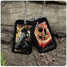 The Hunger Games - Movie Katniss Everdeen Dog Tags Necklace