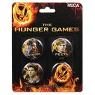 The Hunger Games - Movie Cast 4-pack Pin Set