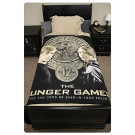 The Hunger Games - Movie Katniss and Peeta Polar Fleece Bed Throw