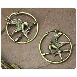 The Hunger Games - Movie Mockingjay Hoop Earrings
