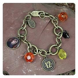 The Hunger Games - Movie Peeta District 12 Charm Bracelet