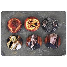 The Hunger Games - Movie Cast 6-Pack Pin Set