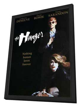 The Hunger - 27 x 40 Movie Poster - Style C - in Deluxe Wood Frame