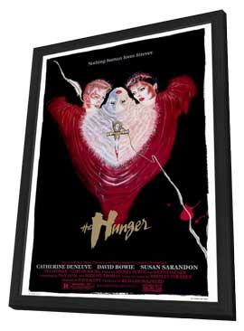 The Hunger - 11 x 17 Movie Poster - Style A - in Deluxe Wood Frame
