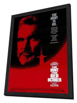 The Hunt for Red October - 27 x 40 Movie Poster - Style A - in Deluxe Wood Frame
