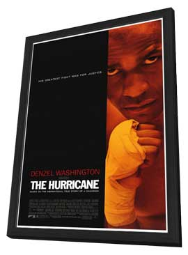 The Hurricane - 27 x 40 Movie Poster - Style A - in Deluxe Wood Frame