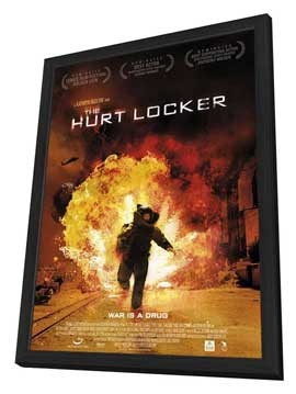 Hurt Locker, The - 11 x 17 Movie Poster - Style D - in Deluxe Wood Frame