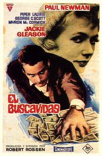 The Hustler - 27 x 40 Movie Poster - Spanish Style A