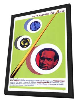 The Hustler - 27 x 40 Movie Poster - Style A - in Deluxe Wood Frame