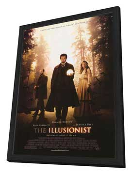 The Illusionist - 27 x 40 Movie Poster - Style A - in Deluxe Wood Frame