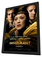 The Immigrant - 27 x 40 Movie Poster - French Style A - in Deluxe Wood Frame