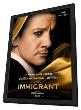 The Immigrant - 27 x 40 Movie Poster - French Style B - in Deluxe Wood Frame