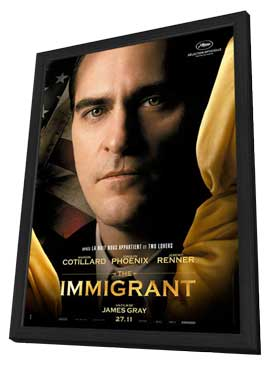 The Immigrant - 27 x 40 Movie Poster - French Style C - in Deluxe Wood Frame
